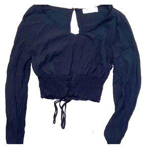 Hollister Long-sleeve scrunchie crop top